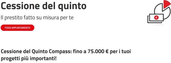 Cessione del quinto Compass - prestiti fino a 75.000 €