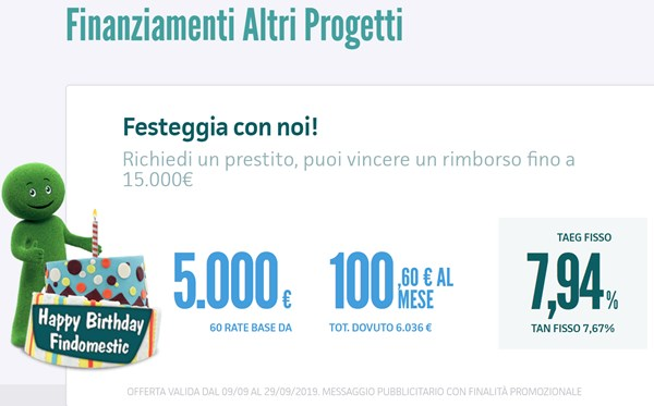 prestito findomestic 5.000 euro